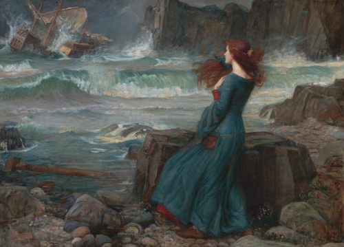 Miranda - The Tempest *oil on canvas *signed b.r.: J.W. Waterhouse / 1916
